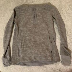 Fleece cowlneck sweatshirt